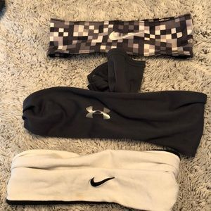 Accessories - Lot of 3 Nike/Under Armour Headbands